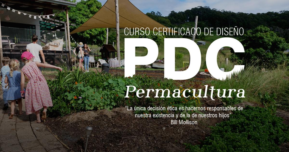 Afiche Curso PDC certificado diseño Permacultura