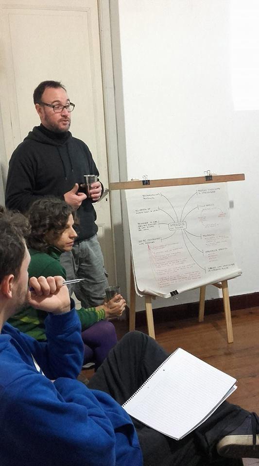 una sesion de la introducción al diseño en Permacultura