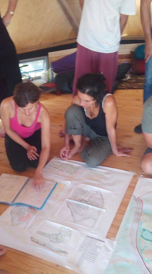 una sesion de PDC diseño en Permacultura